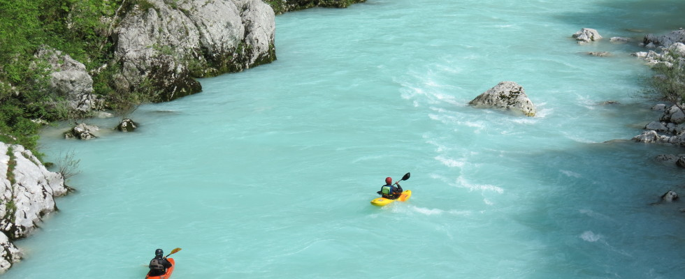 Soca river in spring